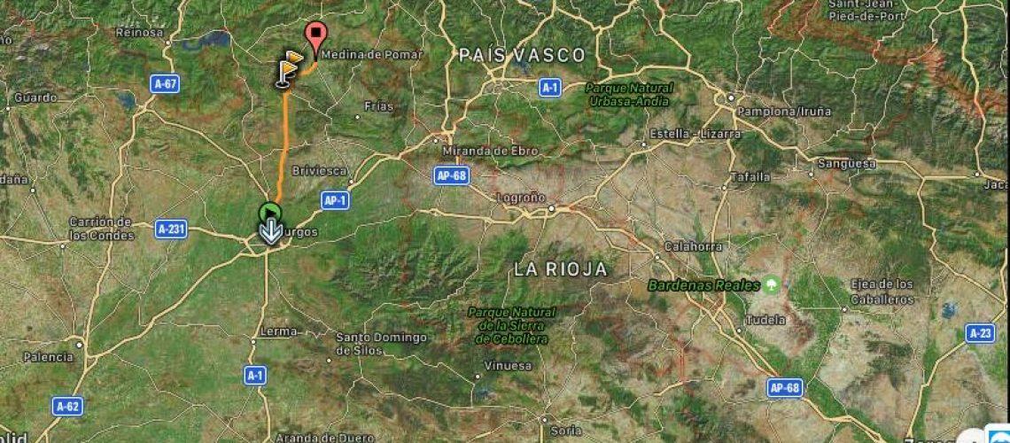 TRANSCANTÁBRICA 2020. Día 1. Burgos - Medina de Pomar